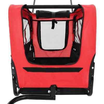 vidaXL Pet Trailer Jogging Stroller Flag Dog Stroller Gray/Red