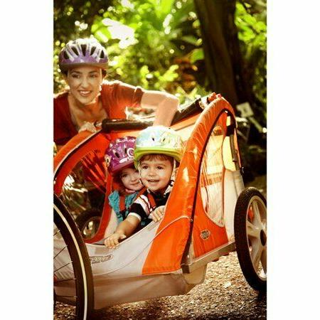 2 Seater Bike Trailer Outdoor Bicycle Trailers Carrier