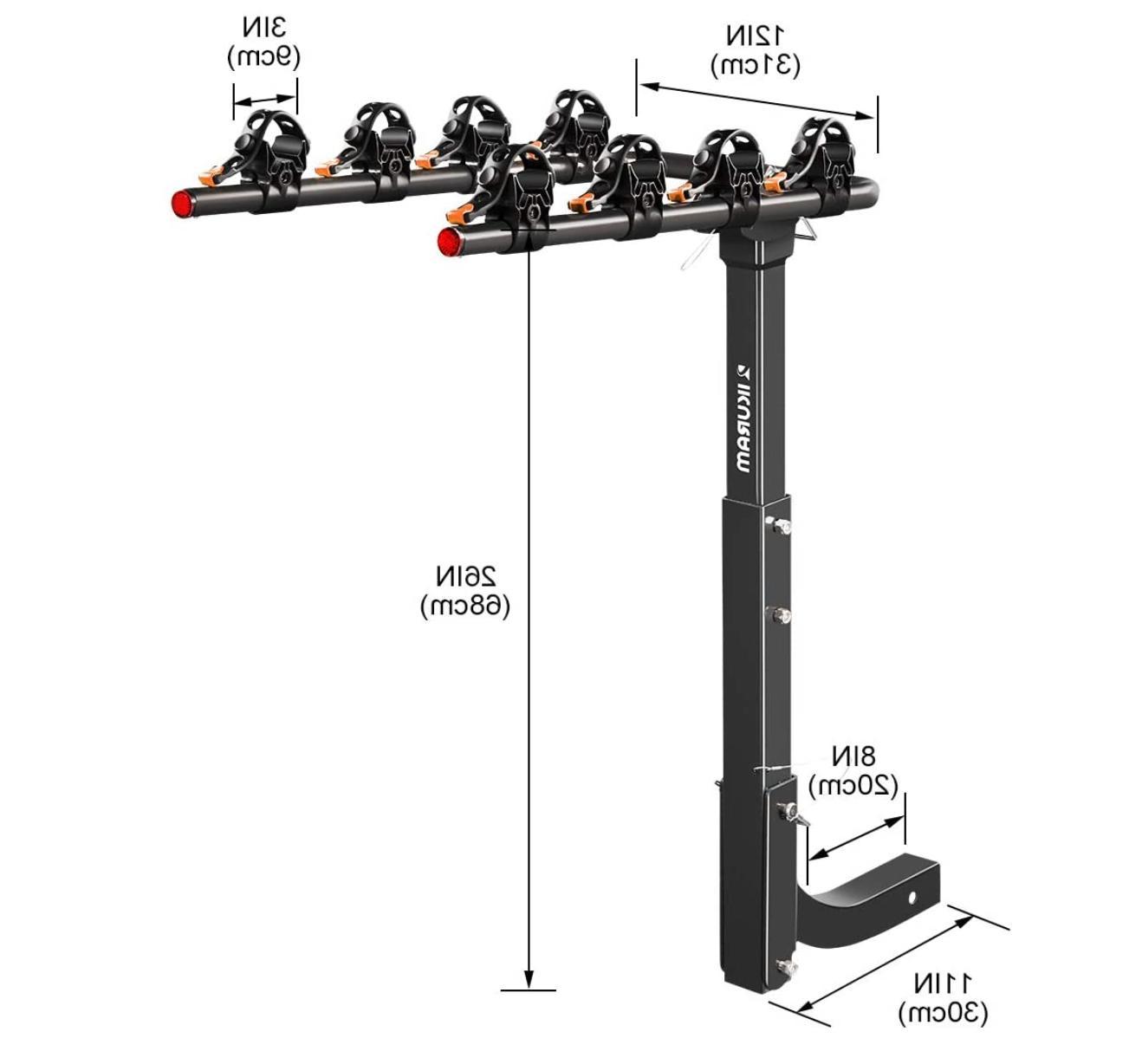 4 Bike Rack Mount SUV Trailer Carrier