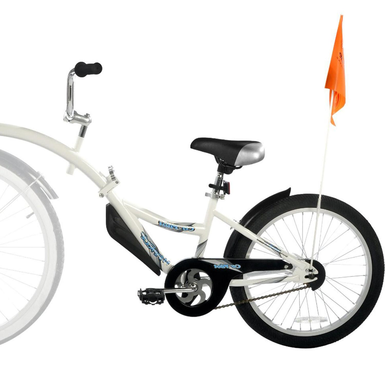 New Tag Along Trailer for Child Ride Attachment Training Tandem