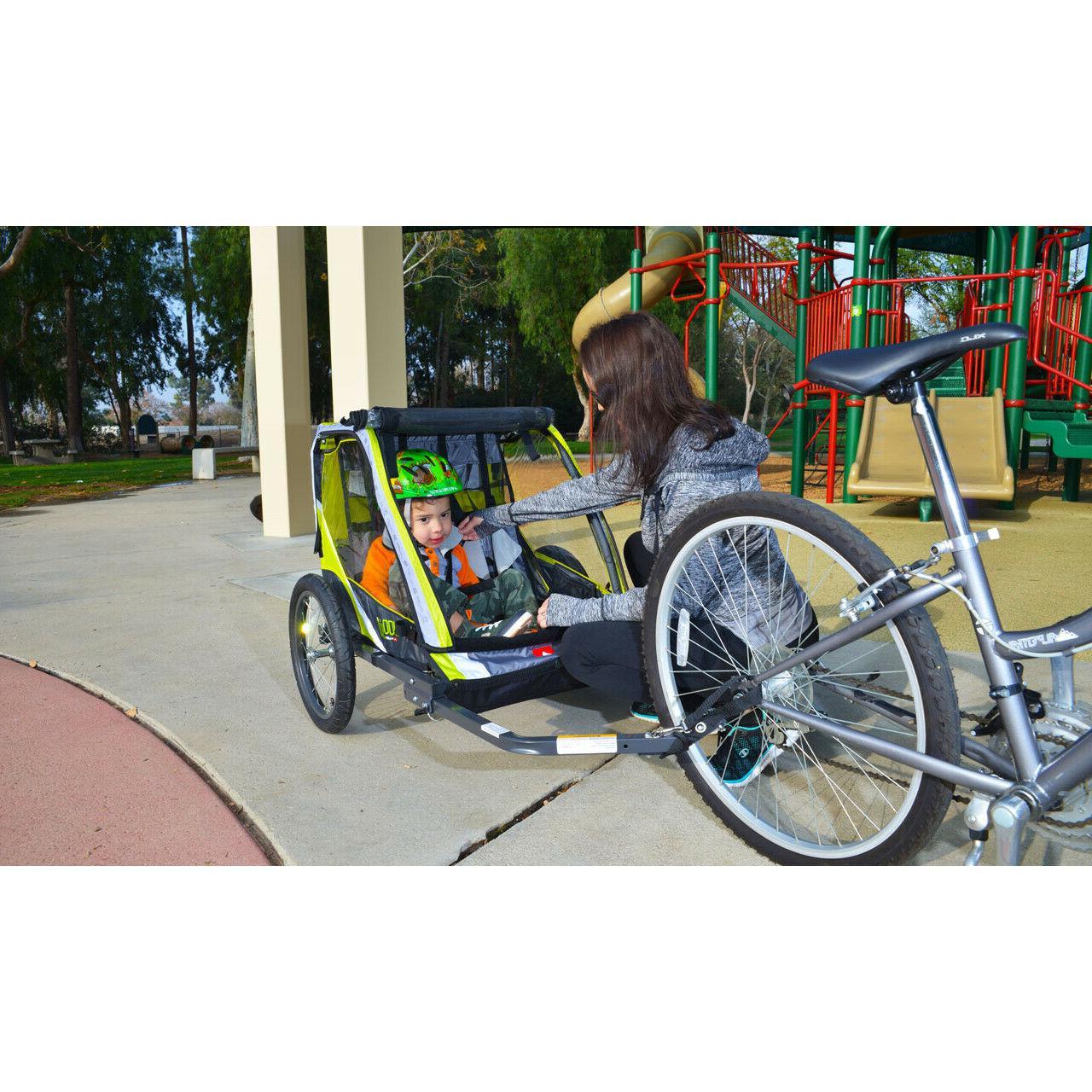 Sports 2-Child Bike Trailer Kids