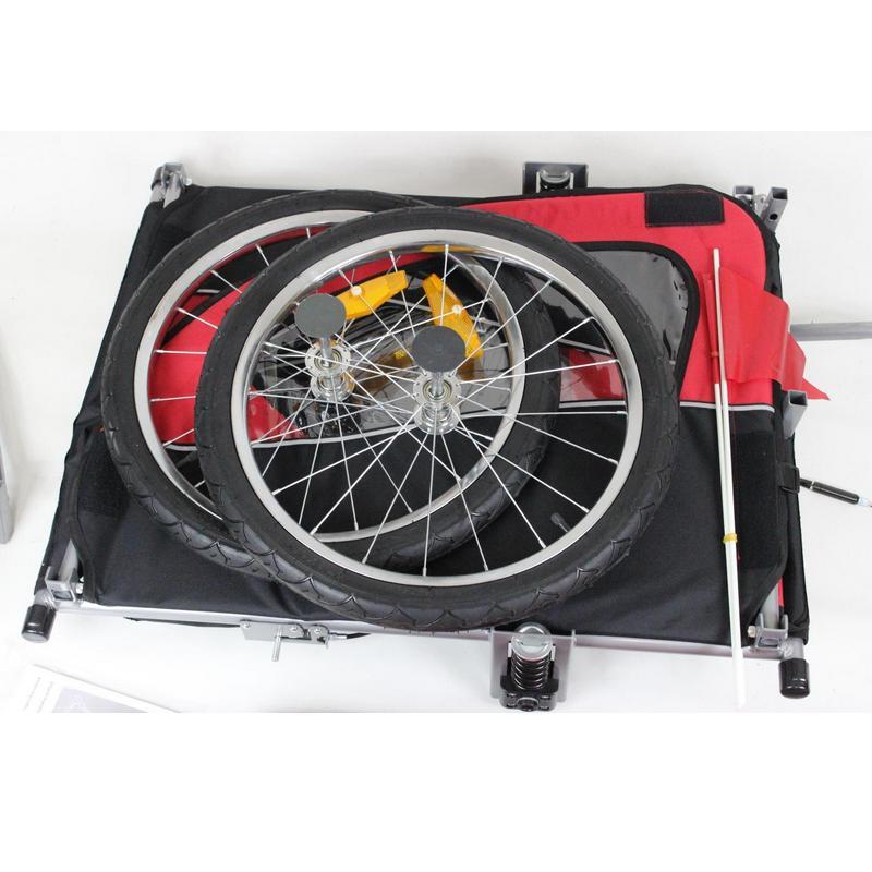Aluminum alloy baby stroller with wheel, fold trailer, <font><b>kids</b></font> jogger Tandem <font><b>bicycle</b></font>