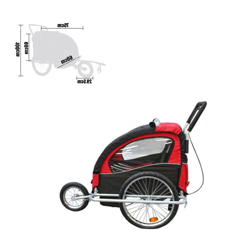 Aluminum alloy frame baby stroller with wheel, fold <font><b>bike</b></font> trailer, <font><b>kids</b></font> jogger Tandem