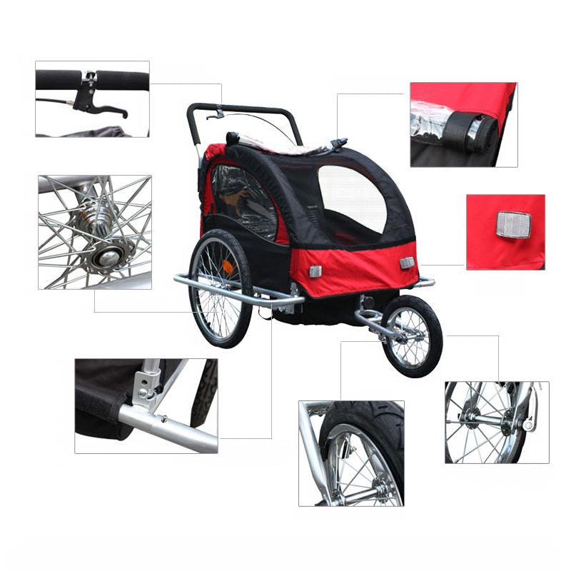 Aluminum frame stroller with 20 inch <font><b>kids</b></font> stroller, <font><b>Bike</b></font> Tandem <font><b>bicycle</b></font>