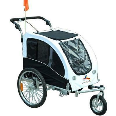 Aosom Pet Dog Bike Stroller Jogger W/ White