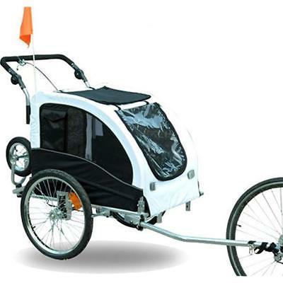Aosom Elite Pet Dog Bike Stroller Jogger White