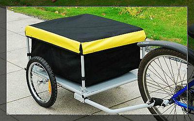 bicycle bike cargo trailer carrier yellow black