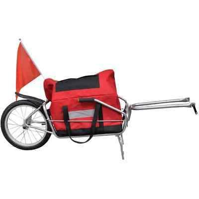 Bicycle Cargo Trailer Cart Carrier Shopping Single Wheel