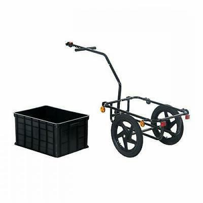 Bicycle Cargo Trailer Steel Carrier Wheel Shopping