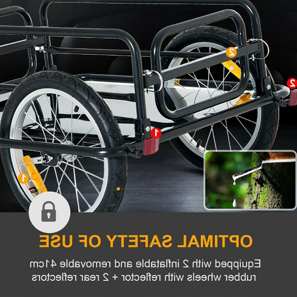 Bicycle Trailer Steel Luggage Cart Vehicle Sporting