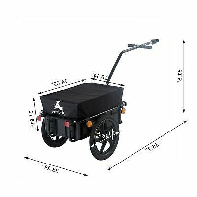 Bicycle Steel Carrier Storage Cart Wheel Runner