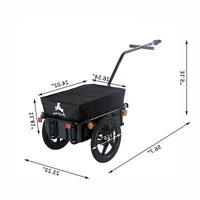 Bicycle Steel Carrier Storage Cart Wheel Runner