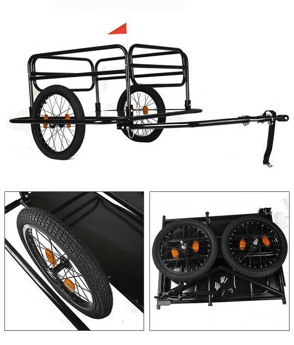Bicycle Trailer Steel Dural Wheels Foldable Luggage