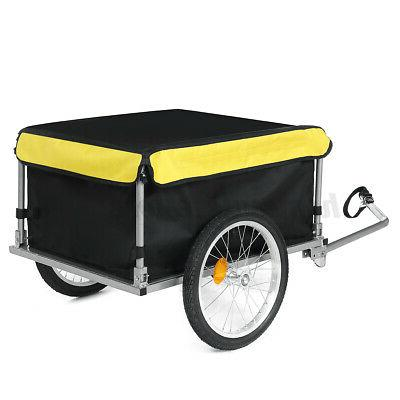 Bike Trailer Steel Carrier Storage Cart Wheel