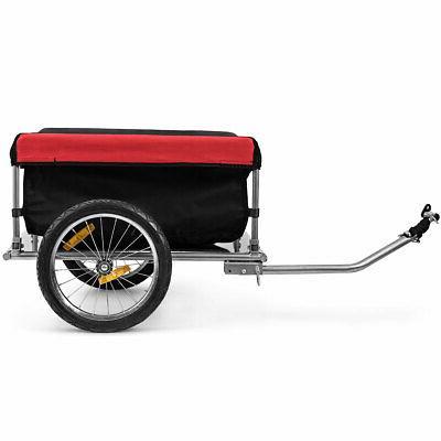 bike cargo luggage trailer w folding frame