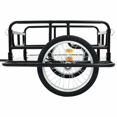 "vidaXL Cargo 51.2"" Steel Black Bicycle Vehicle Sporting"