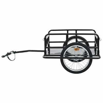 "vidaXL Bike Trailer 51.2"" Steel Bicycle Vehicle Sporting"