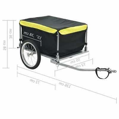 vidaXL Black 143.3 Pound Wheel Carrier