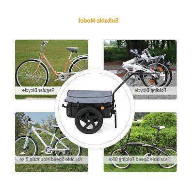 iKayaa Bike Trailer Trailer Removable Box US STOCK