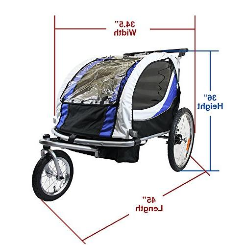 Clevr Bicycle Trailer Blue wheel