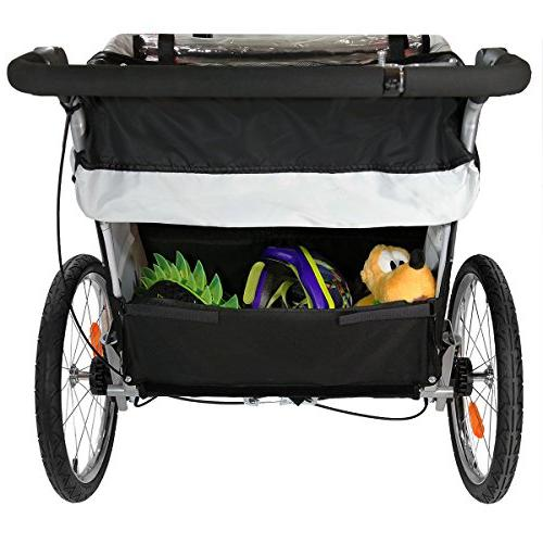 Clevr Foldable Double Trailer Blue