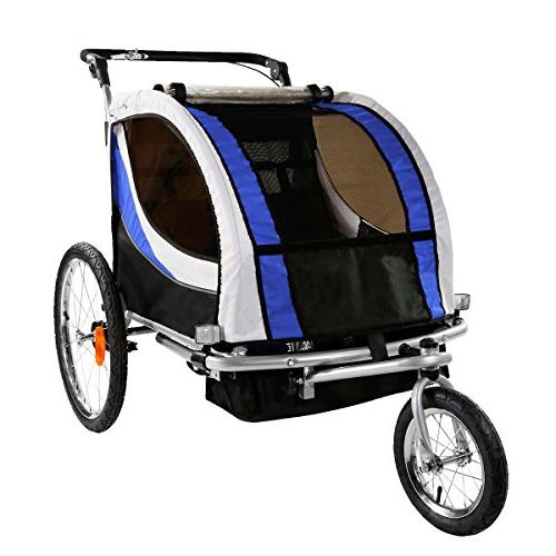clevr foldable double bicycle trailer
