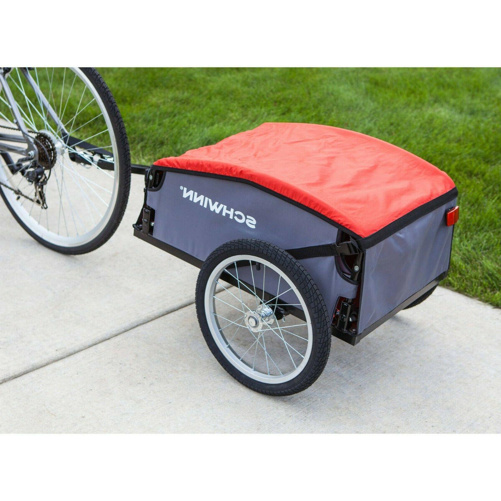 daytripper cargo trailer gray red bike storage