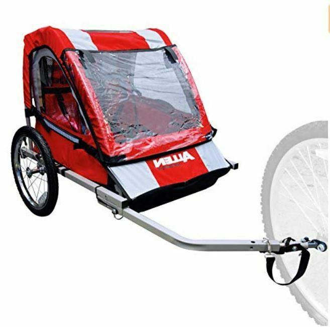 deluxe 2 child steel bicycle trailer red