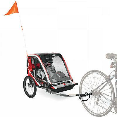 Allen Sports Deluxe Steel 2-Child Bicycle Trailer with Foot
