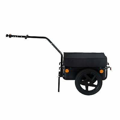 Aosom Double Wheel Internal Frame Enclosed Bicycle Cargo Tra