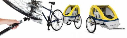 echo kids child double tow behind bicycle