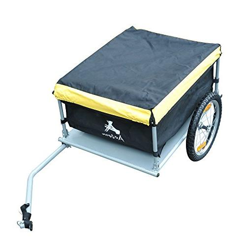 Aosom Elite Bike / Luggage Trailer - Yellow Black