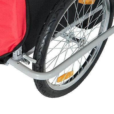 Elite Double Bike Trailer Stroller Bicycle Kids Jogger - Red