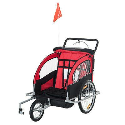 Elite Baby Trailer Stroller - Bicycle Red