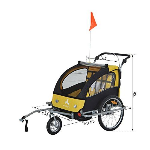 Elite 1 Double Baby Bike Trailer,
