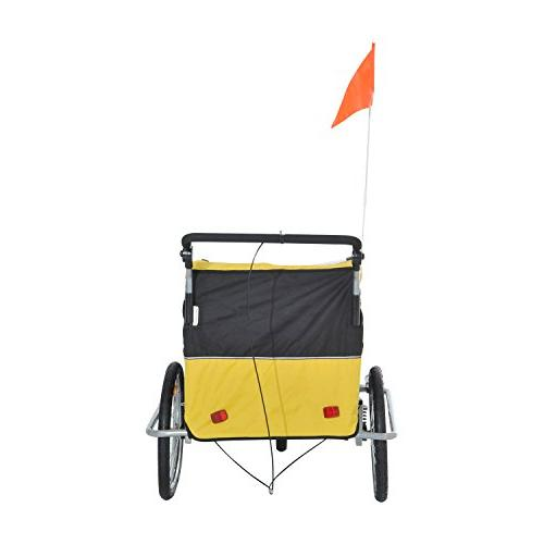 Elite II 2 1 Double Bike Trailer, Yellow