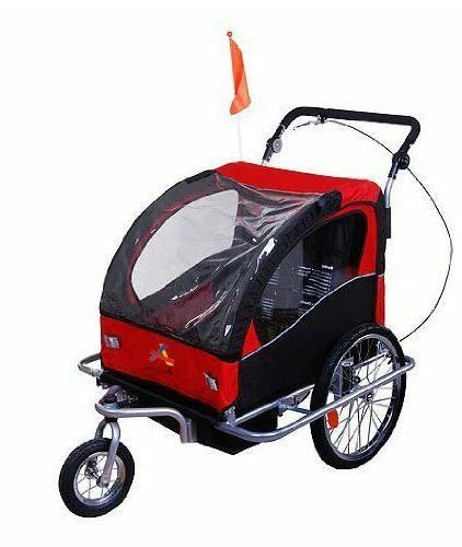 elite ii 3in1 double child bike trailer