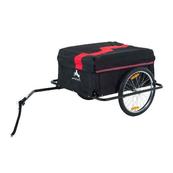 elite ii bike cargo luggage trailer red
