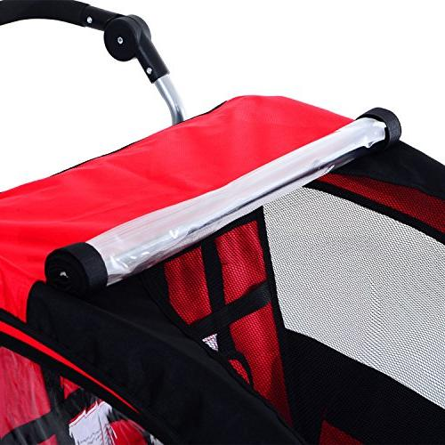 Aosom Elite II 3-in-1 Double Child Red/Black