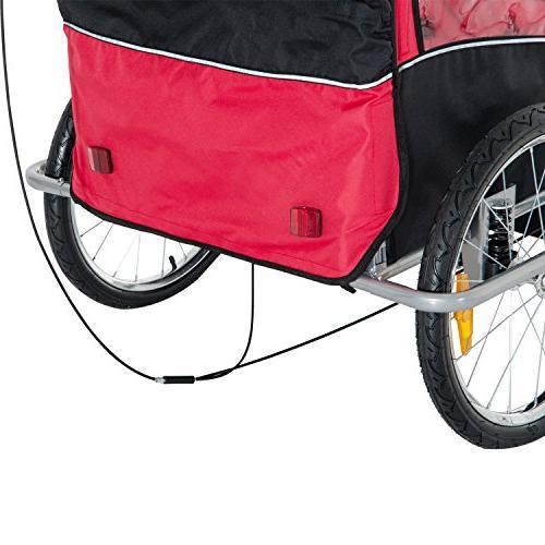 2eda68b9661 Aosom Elite II 3-in-1 Double Child Bike Trailer/Stroller/Jogger,
