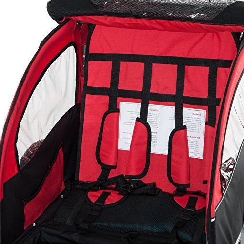 Aosom 3-in-1 Double Child Bike Red/Black