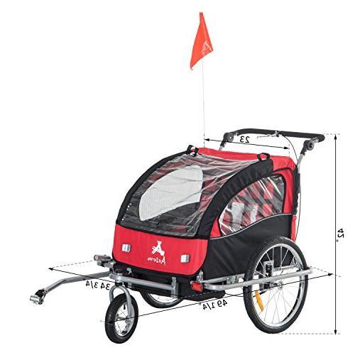 Aosom II 3-in-1 Double Bike Red/Black
