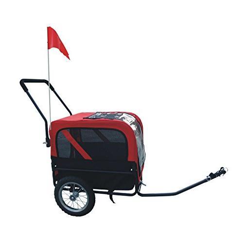 Aosom Elite-Jr Dog Pet Bike w/ Swivel Wheel Red Black