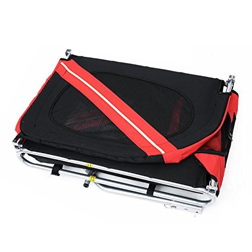 Aosom Elite Pet Carrier / Red Black