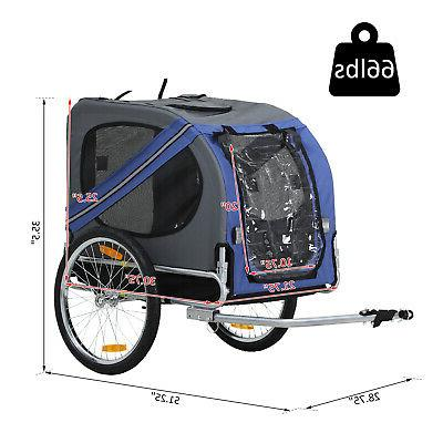 Aosom Elite Bike Trailer Folding Trailer Stroller