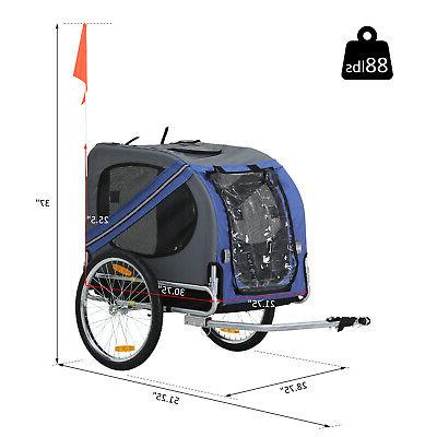 Aosom Elite Pet Bike Trailer Bicycle Trailer Stroller