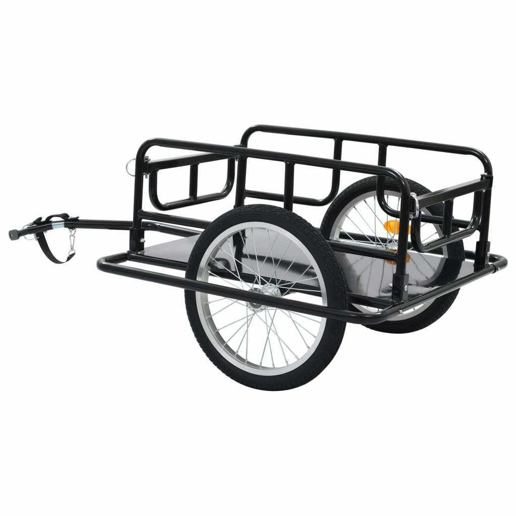 Foldable Bicycle Cargo Trailer Luggage Cart Steel