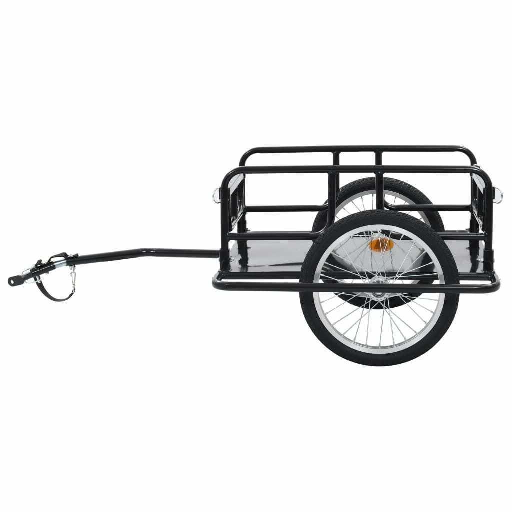 Foldable Bike Cargo Trailer Luggage Cart Carrier Steel Frame