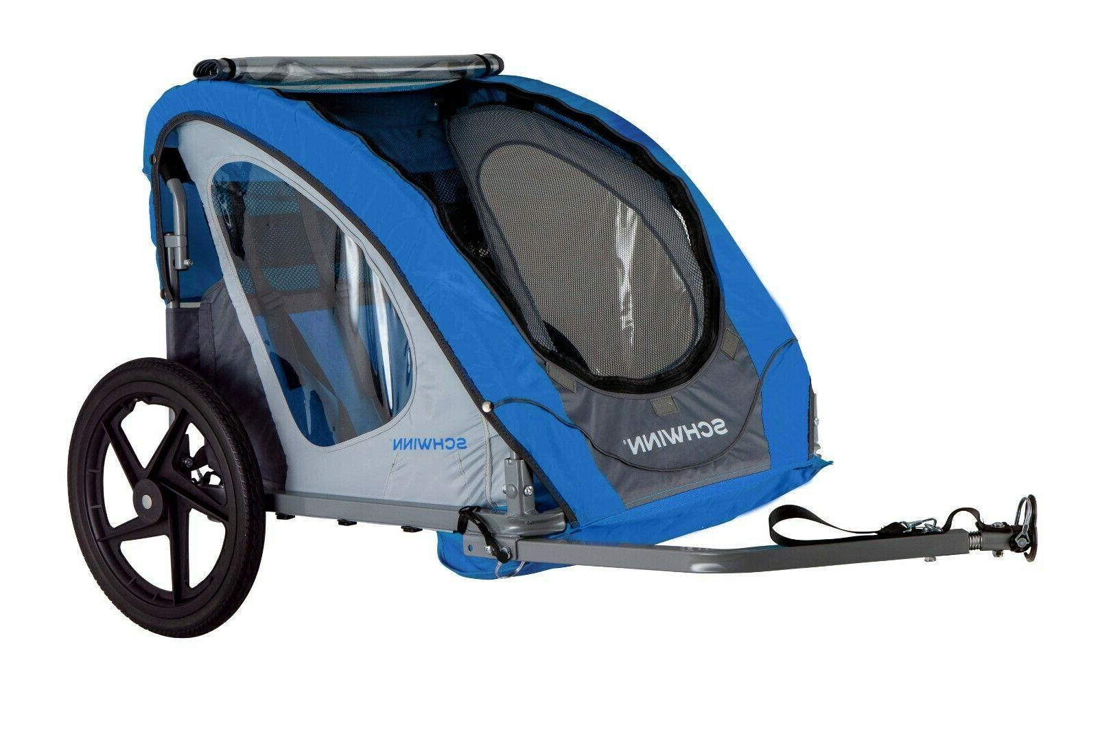 foldable double child baby bike trailer compact