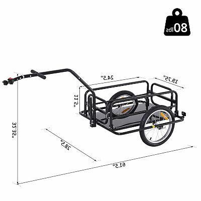 Folding Storage Cart Luggage Black
